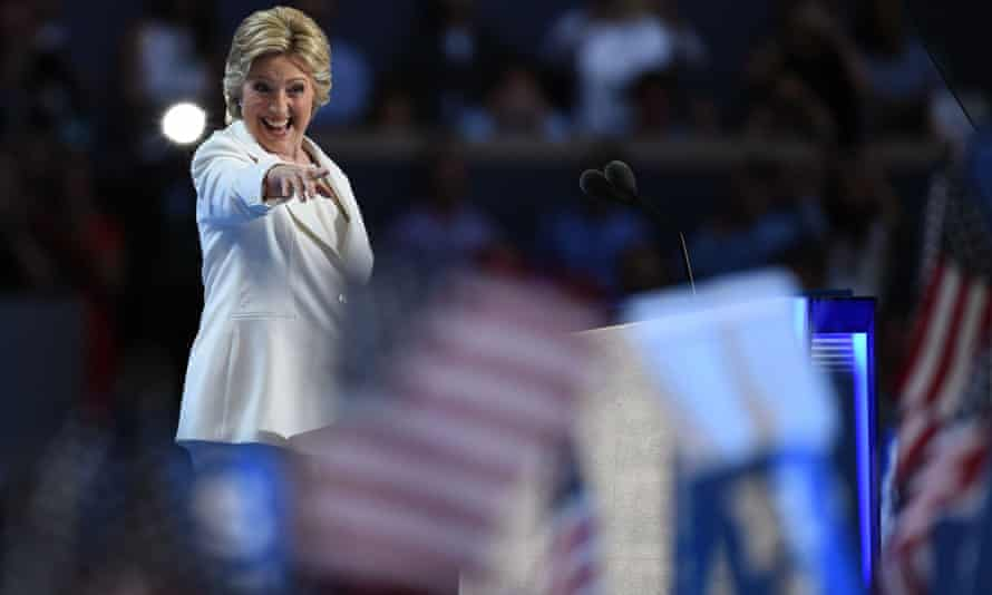 Hillary Clinton at the Democratic national convention.