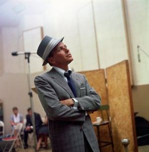 Frank Sinatra at a Capitol Records recording session in 1958