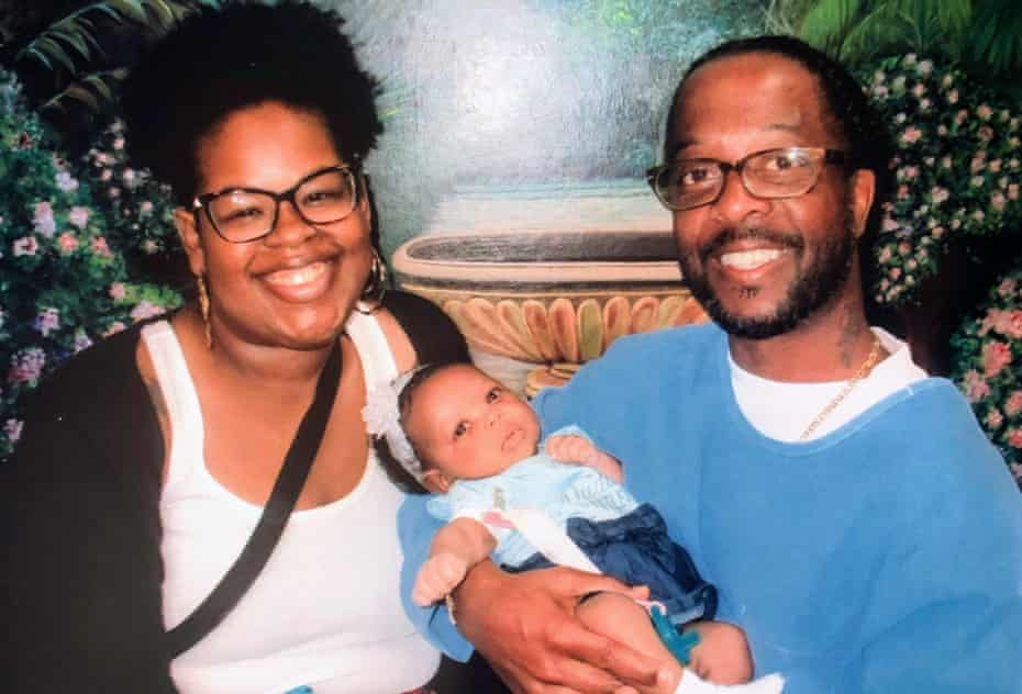 Zakiya and Tyrone Prince with their daughter, Nova.