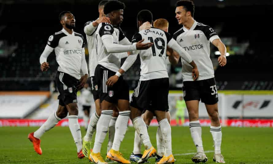 Fulham's Ademola Lookman celebrates his goal
