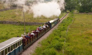 The Ravenglass and Eskdale narrow gauge railway in Cumbria.