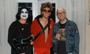 Guests at Steve H's 80s-themed divorce party