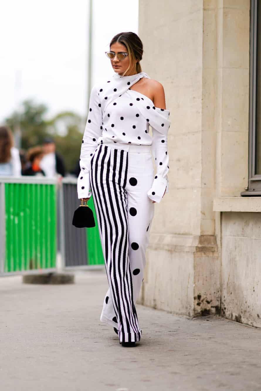Polka dots at Paris fashion week.