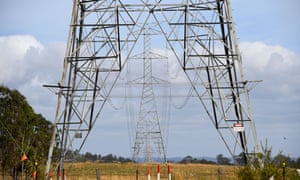 An electricity tower going through a rural property