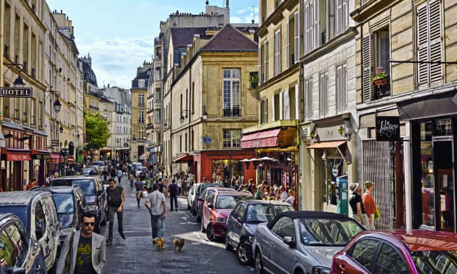 Le Marais district in Paris, France