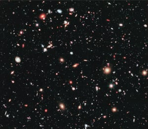 There are more than 5,000 galaxies in this Hubble image, from the book