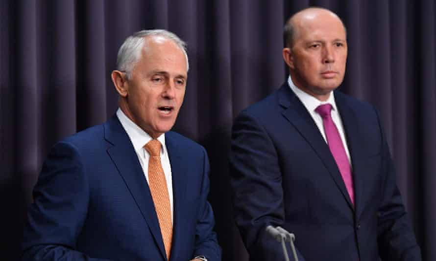 Prime Minister Malcolm Turnbull and Minister for Immigration Peter Dutton
