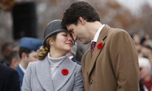 Justin Trudeau and his wife Sophie, a former television presenter.
