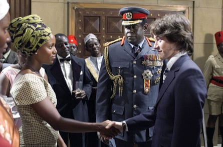 With Forest Whitaker (centre) and James McAvoy in the 2006 film The Last King of Scotland.