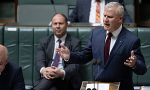 Michael McCormack during question time on Wednesday