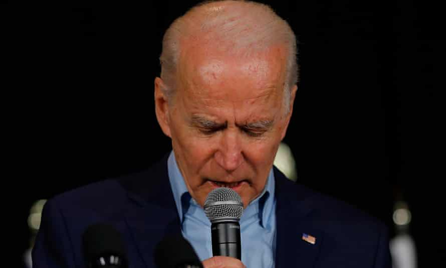 Democratic presidential candidate and former Vice President Joe Biden speaks at a rally at the Drake University Olmsted Center in Des Moines, Iowa, U.S., February 3, 2020. REUTERS/Carlos Barria