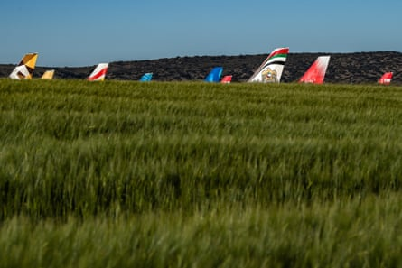 Grounded planes in Teruel, Spain in May 2020.