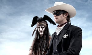 Hammer with Johnny Depp in The Lone Ranger, 2013.