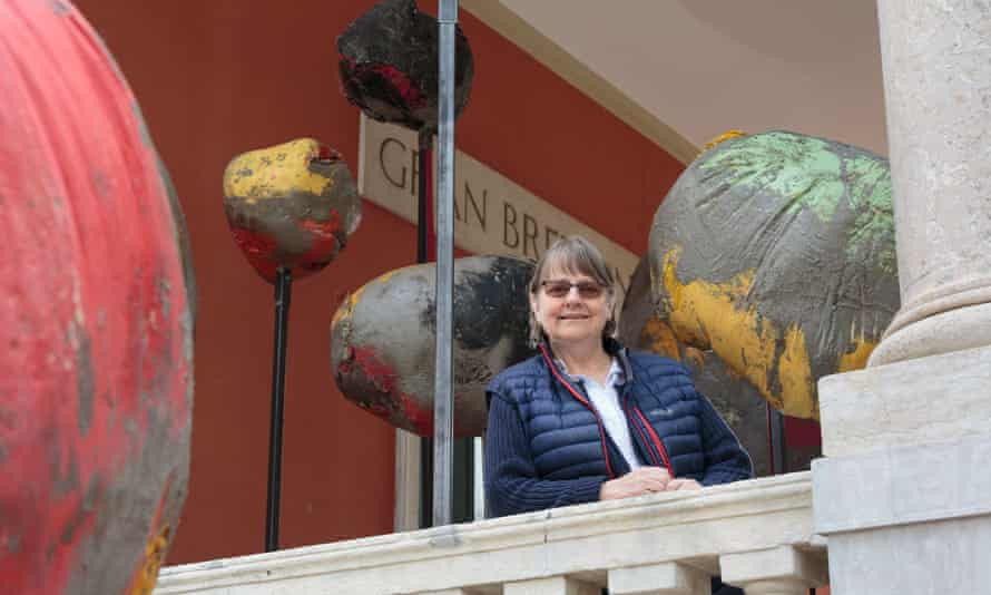 Phyllida Barlow at the British Pavilion during the 2017 Venice Biennale