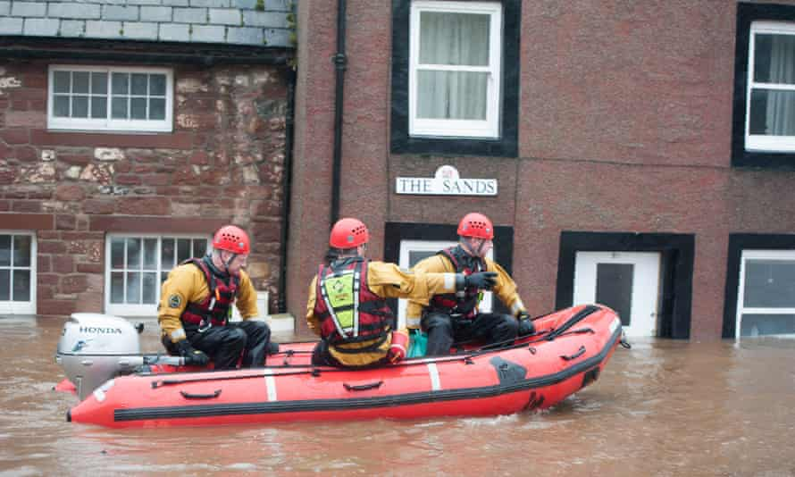 The market town of Appleby, Cumbria, has experienced some of the worst flooding.