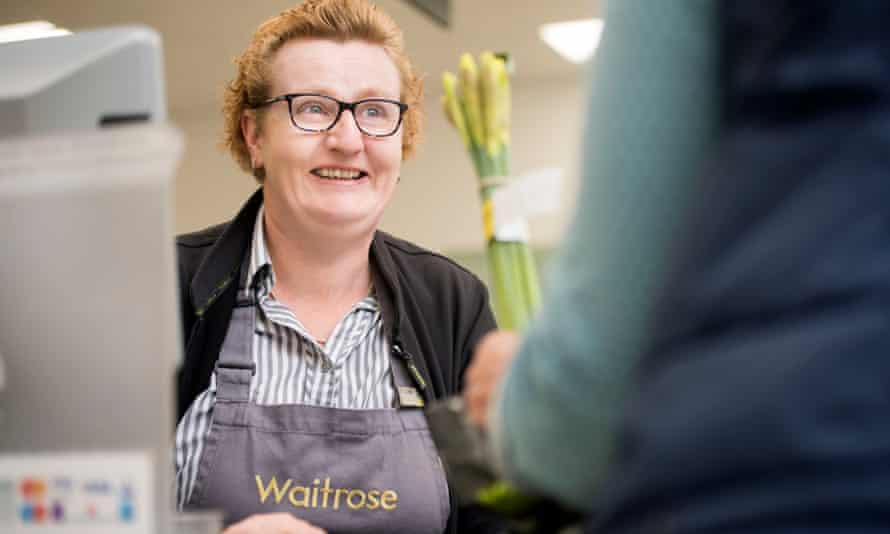 Claire Gray behind Waitrose till