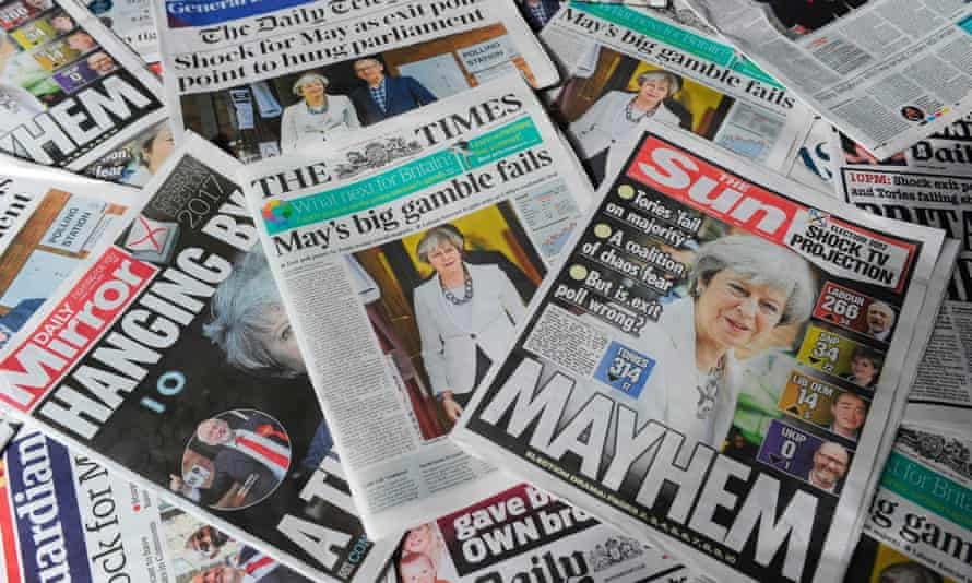 Post-election newspapers.