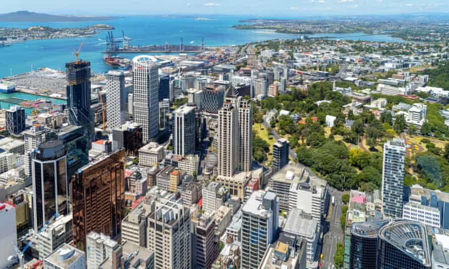 A view of Auckland from the Sky Tower. The Economist Intelligence Unit has named Auckland world's most liveable city.