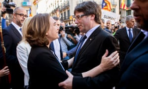 Ada Colau and Catalan regional president Carles Puigdemont.