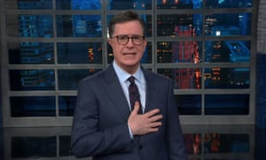 Stephen Colbert to Donald Trump: 'On behalf of the American people, let me remind you that you don't work for Fox News, they work for you.'