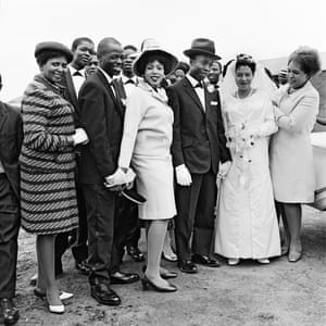Wedding party, Orlando West, 1970.