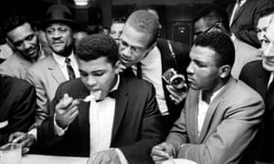 Muhammad Ali (then Cassius Clay) with Malcolm X after Clay beat Sonny Liston for the heavyweight championship of the world.