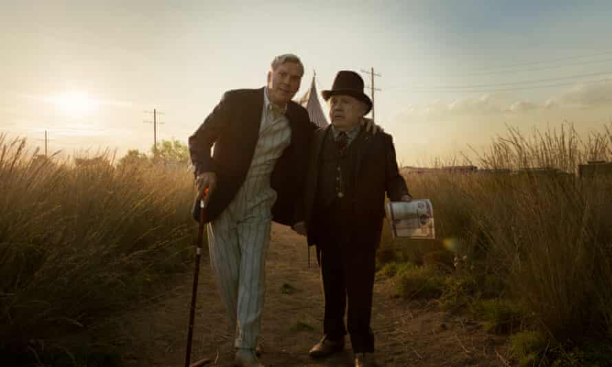 Michael Keaton and Danny DeVito in Tim Burton's Dumbo.