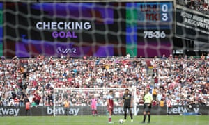 VAR was busy at West Ham United v Manchester City.