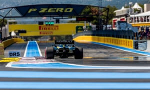 Renault's Daniel Ricciardo on his way to qualifying in 8th position for the French Grand Prix.