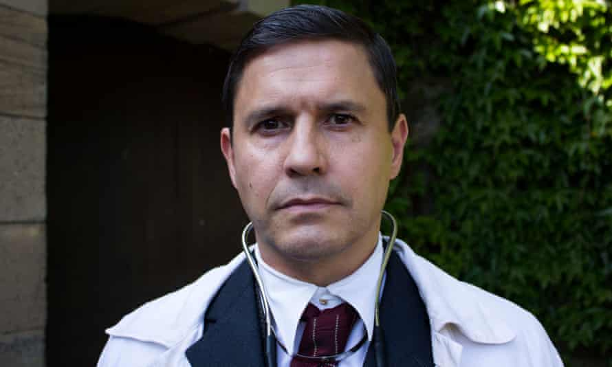 Jeremy Edwards as Dr Basil Hood in the docudrama The Flu That Killed 50 Million