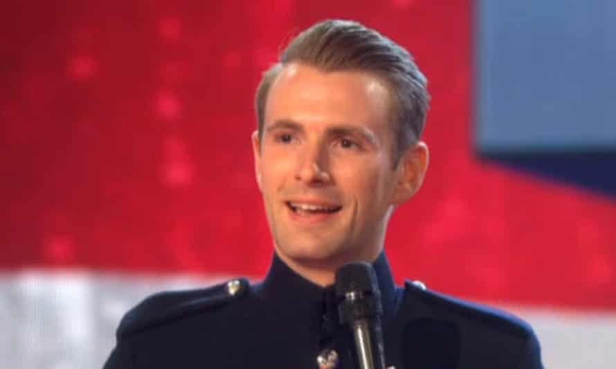 Screengrab of Richard Jones winning Britain's Got Talent.