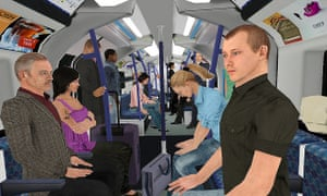 Patients experienced a total of seven simulated journeys in an underground train carriage and a lift, with the number of virtual passengers increasing in each scenario.