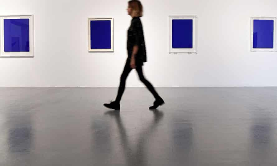 Yves Klein blue paintings at Tate Liverpool.
