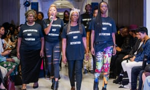 Campaigners for and members of the Windrush generation modelled in a catwalk show at Lambeth Town Hall