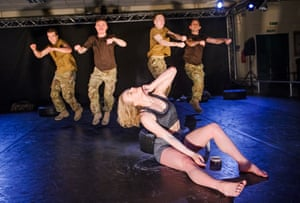 Shelley Eva Haden in 5 Soldiers by Rosie Kay Dance Company.