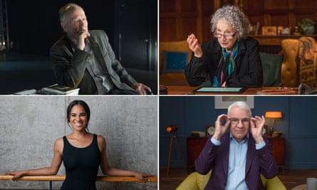MasterClass tutors, clockwise from top left, Werner Herzog, Margaret Atwood, Steve Martin and Misty Copeland.