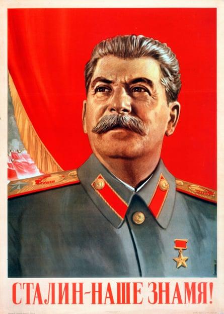 Stalin is our Banner! – a 1948 Soviet poster by Vasili Suryaninov.