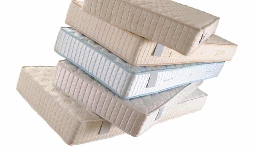 pile of mattresses