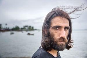 Kurdish asylum seekers and journalist Behrouz Boochani at Manus Island