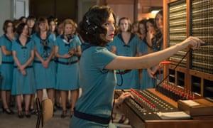 Blanca Suarez in the Spanish-language drama Cable Girls on Netflix.