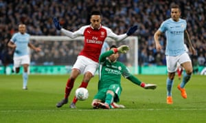 Claudio Bravo in the Carabao Cup final in 2018, but he was not used in the league campaign after a poor first season at the Etihad.
