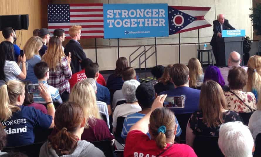 Sanders speaks in Ohio