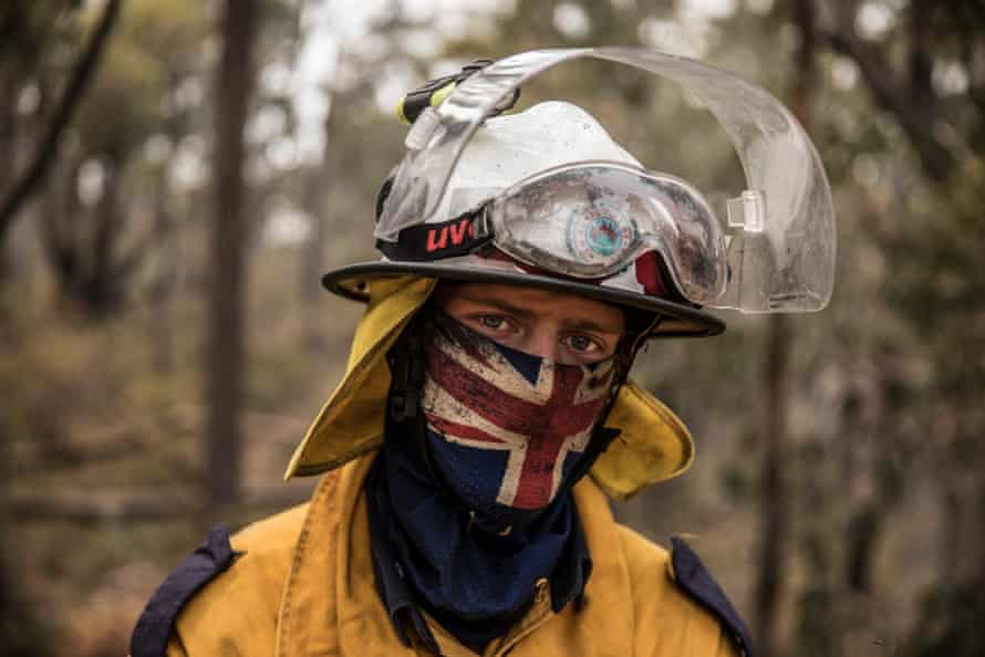 Volunteer firefighters say they are exhausted from weeks without reprieve.