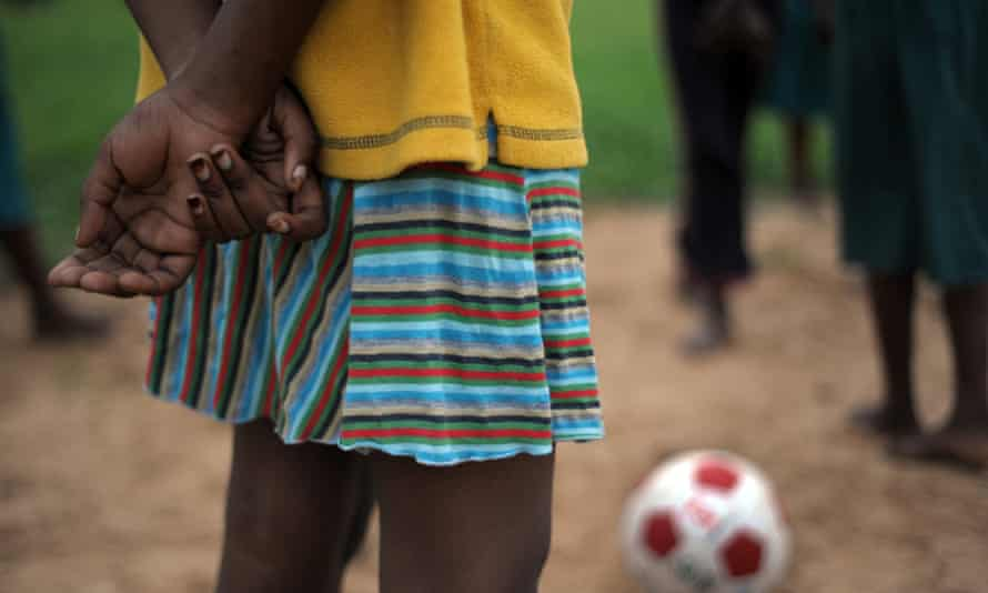 Schoolgirls take part in a football match in Kilifi, a coastal town in Kenya, as part of a 2010 education initiative on the pitfalls of early marriage and teen pregnancy