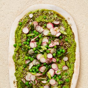 Yotam Ottolenghi's peas, tahini and za'atar