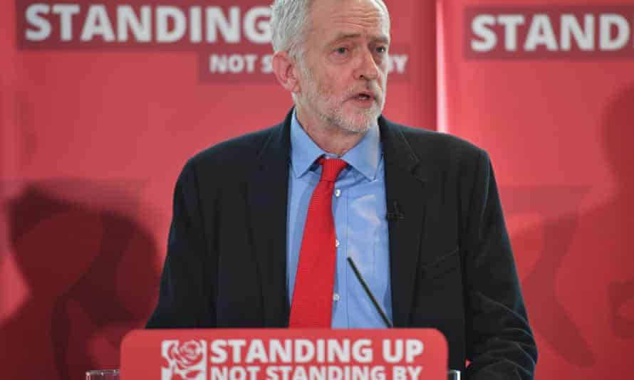 Jeremy Corbyn speaking after the launch of a report on Labour's antisemitism inquiry findings.