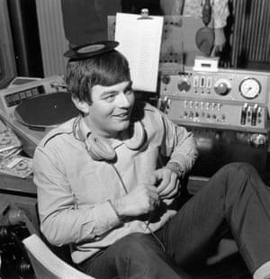 Tony Blackburn on the opening day of Radio 1, 30th September 1967.
