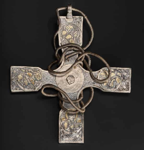 A millennium's worth of dirt has been removed from the Anglo-Saxon cross buried in the 9th century.