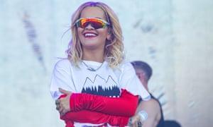 Rita Ora at the Isle of Wight festival in June 2018