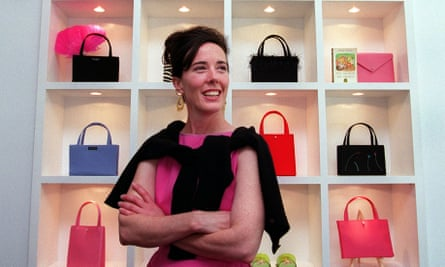 Kate Spade at the launch of her new handbag store in Boston, Massachusetts, in 1999.